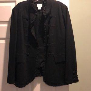 Beautiful, Chicos, size 3(16), ponte knit, blazer.